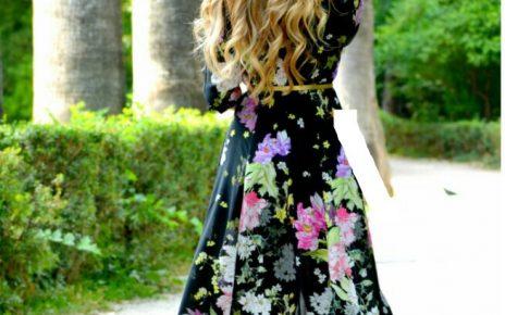 ropa con flores vestido