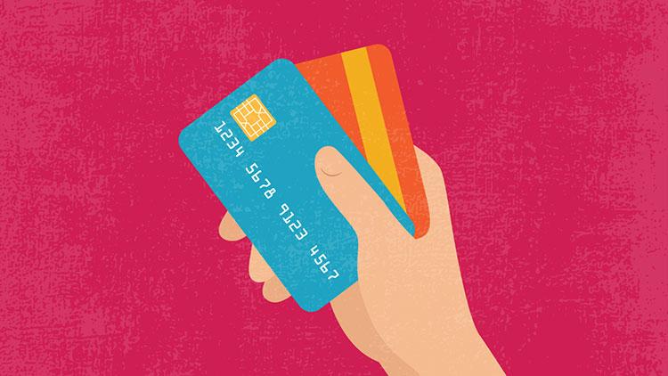 Tarjeta de crédito ilustración